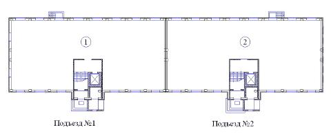 Поквартирная схема жилого дома Владимирская-3а