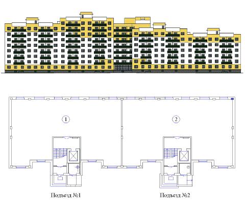Объемно-планировочное решение объекта Владимирская-3б