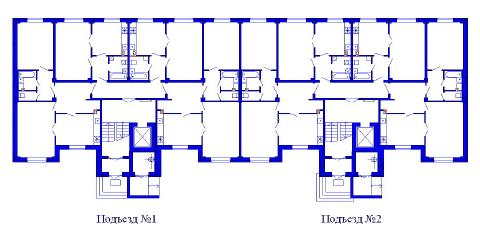 Поквартирная схема жилого дома Владимирская-3б