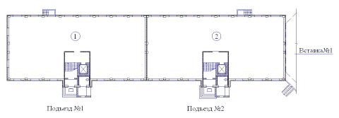 Поквартирная схема жилого дома Владимирская-3в