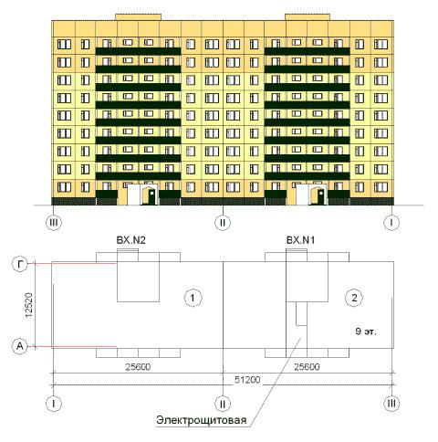 Обьёмно-планировочное решение объекта Владимирская-4